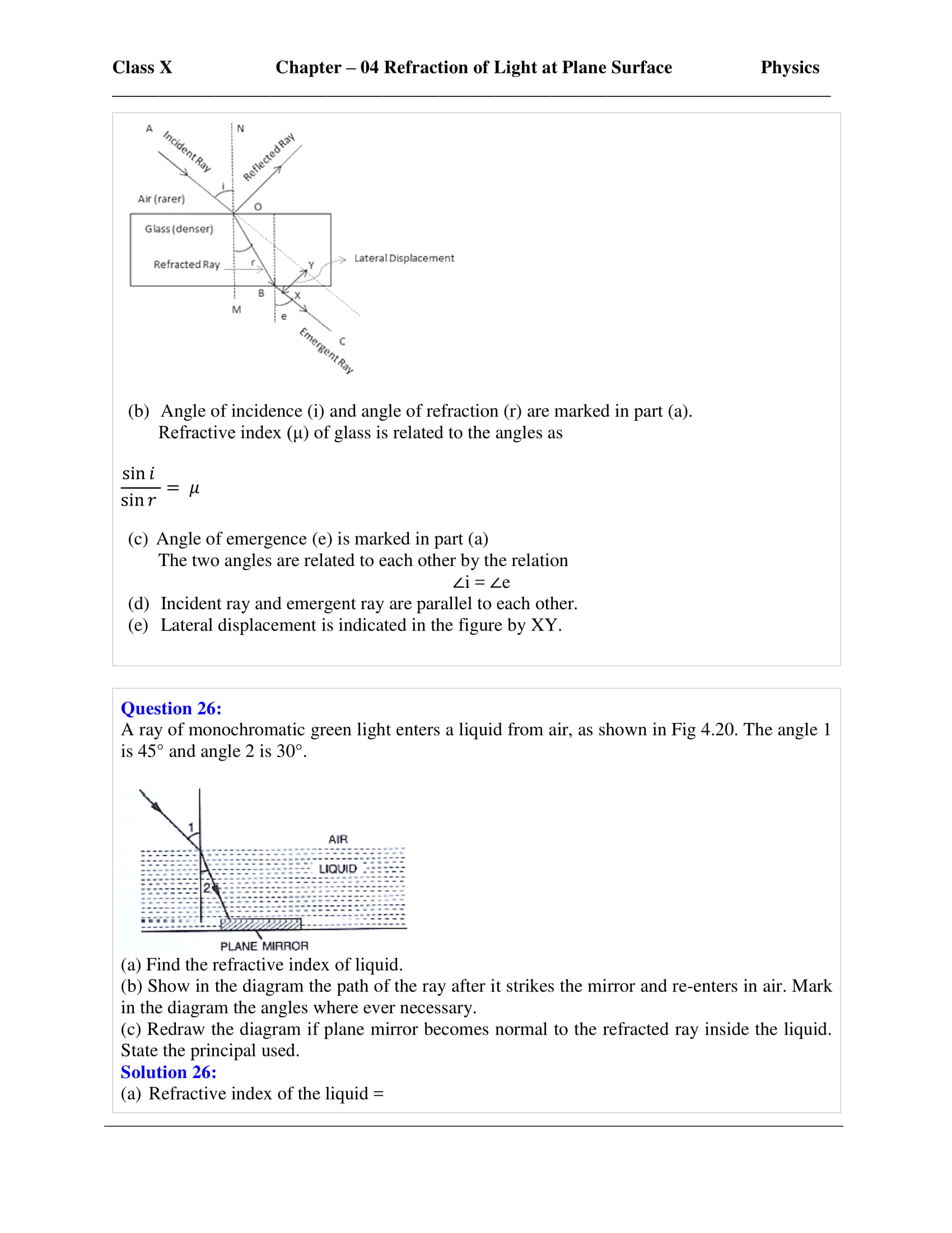 icse-selina-physics-solutions-class-10-chapter-4-refraction-of-light-at-plane-surfaces-09
