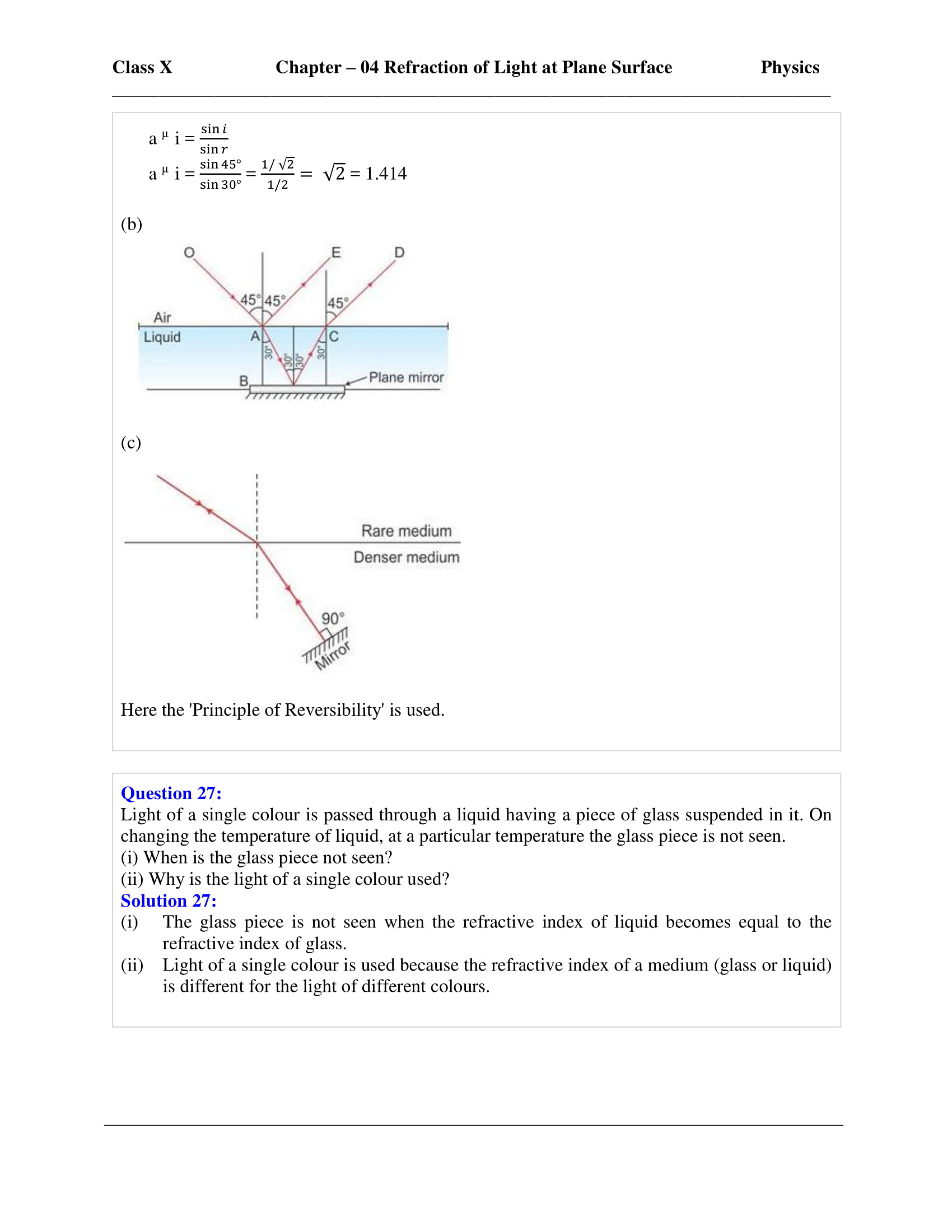 icse-selina-physics-solutions-class-10-chapter-4-refraction-of-light-at-plane-surfaces-10