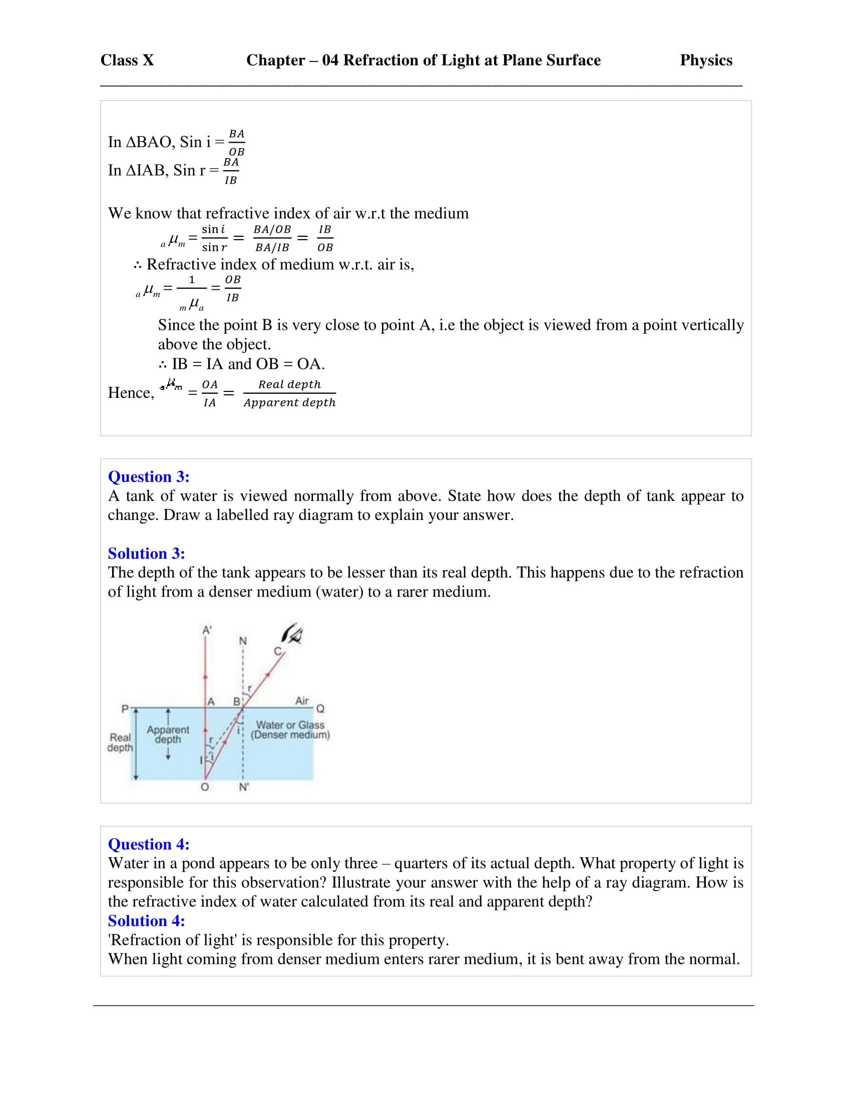 icse-selina-physics-solutions-class-10-chapter-4-refraction-of-light-at-plane-surfaces-23