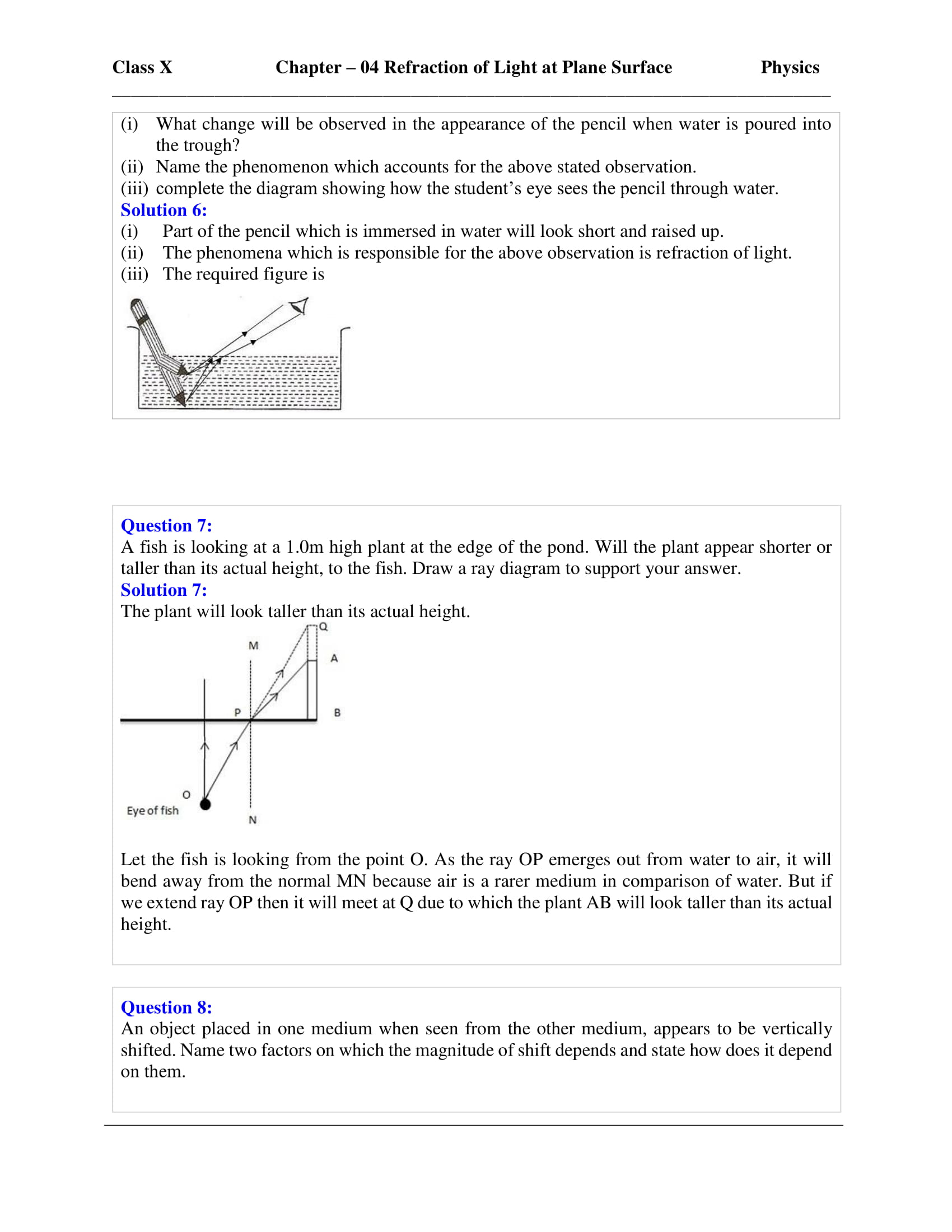 icse-selina-physics-solutions-class-10-chapter-4-refraction-of-light-at-plane-surfaces-25