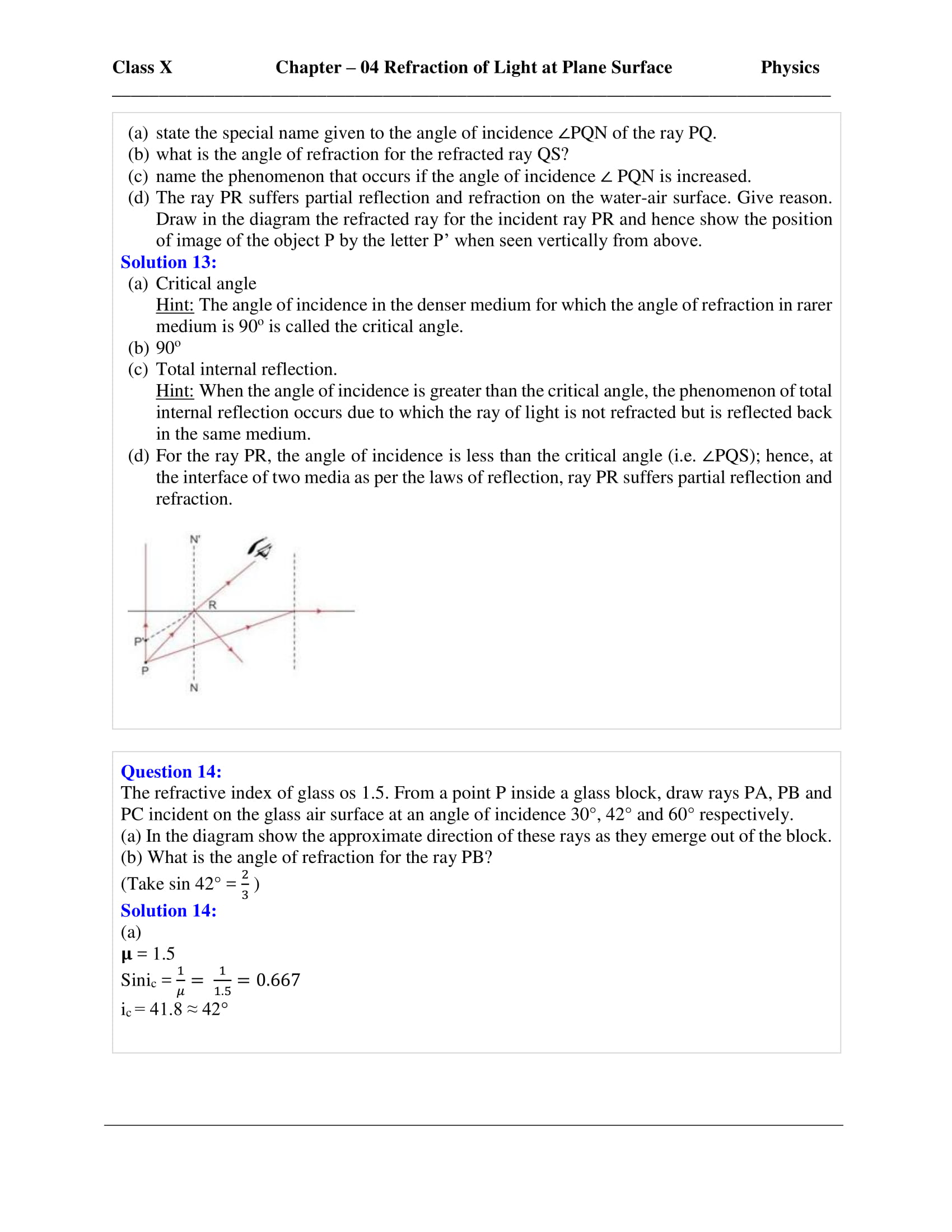 icse-selina-physics-solutions-class-10-chapter-4-refraction-of-light-at-plane-surfaces-32