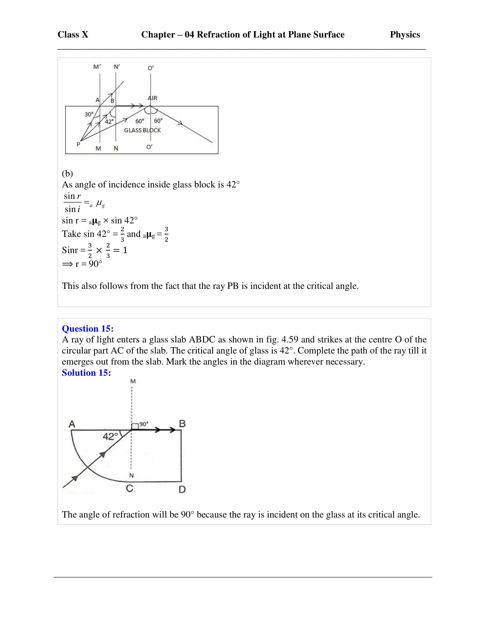 icse-selina-physics-solutions-class-10-chapter-4-refraction-of-light-at-plane-surfaces-33