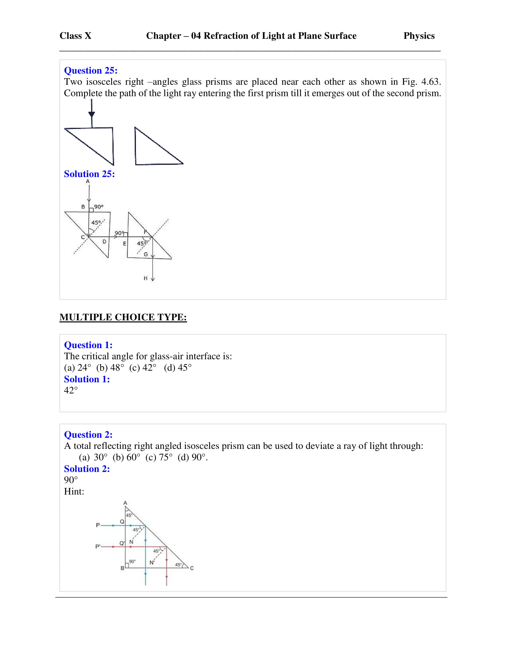 icse-selina-physics-solutions-class-10-chapter-4-refraction-of-light-at-plane-surfaces-38