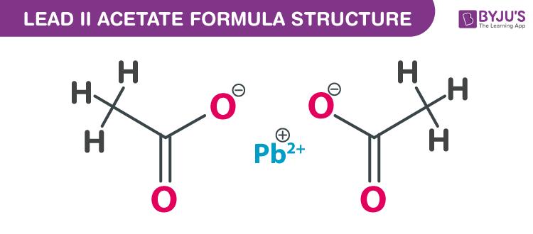 Lead (II) acetate Formula