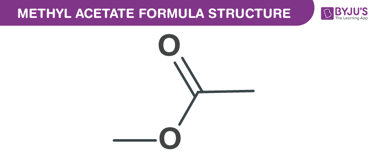 Methyl acetate Formula