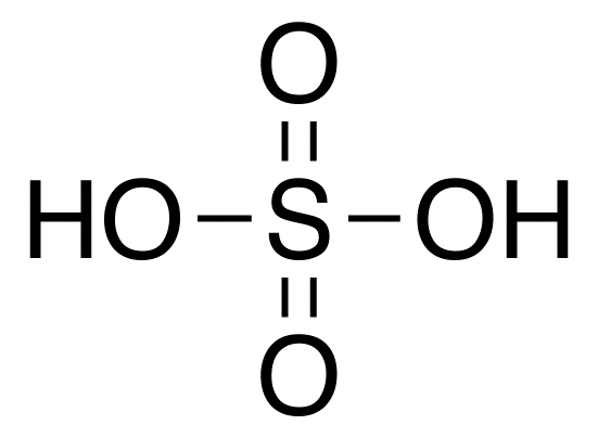 Structural Formula of Sulphuric Acid