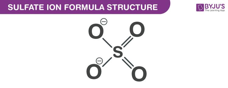 Sulfate Ion Formula