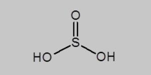 Sulfurous Acid Structural Formula