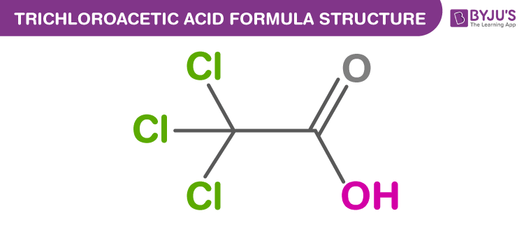 Trichloroacetic acid Formula