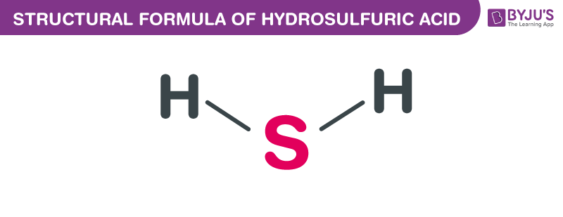 Structural Formula of Hydrosulfuric Acid