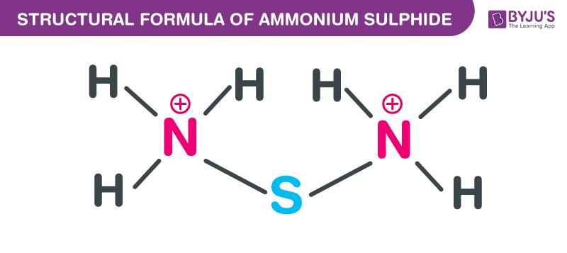 Ammonium Sulfide Structural Formula