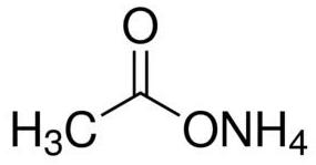 Ammonium Acetate Structural Formula