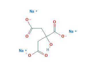 Structural Formula of Sodium Citrate