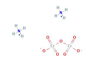 Ammonium Dichromate Structural Formula