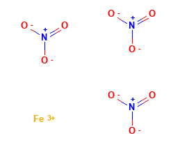 Iron III Nitrate Structural Formula