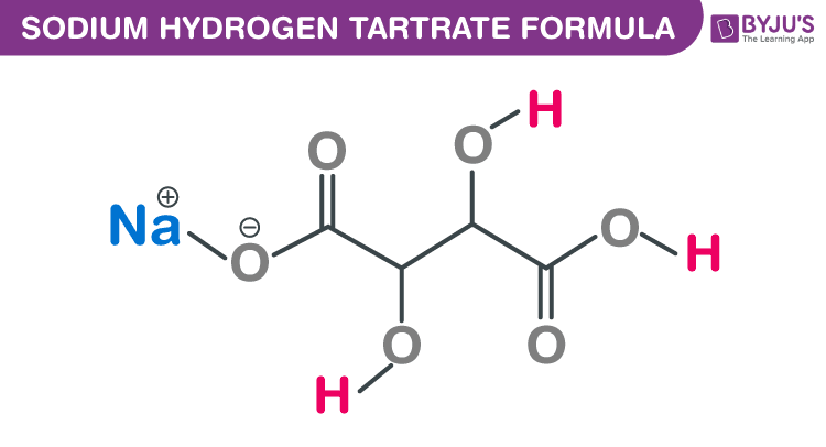 Sodium Hydrogen Tartrate Formula