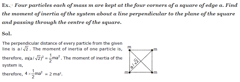 Solved Example on Moment of Inertia