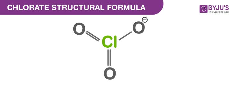 Chlorate Structural Formula