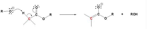 Claisen Condensation Mechanism Step 1