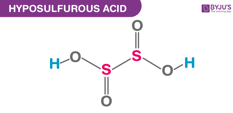 Hyposulfurous Acid Structural Formula