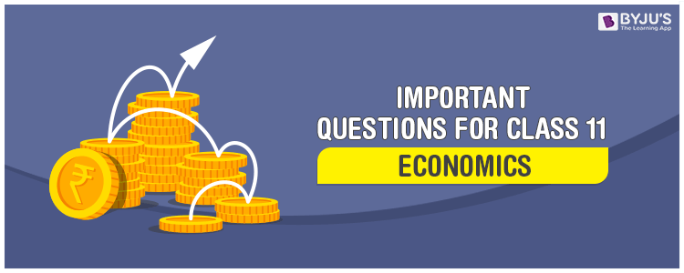 Important Questions for Class 11 Economics - Chapter wise