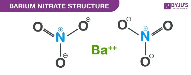 Barium nitrate structure