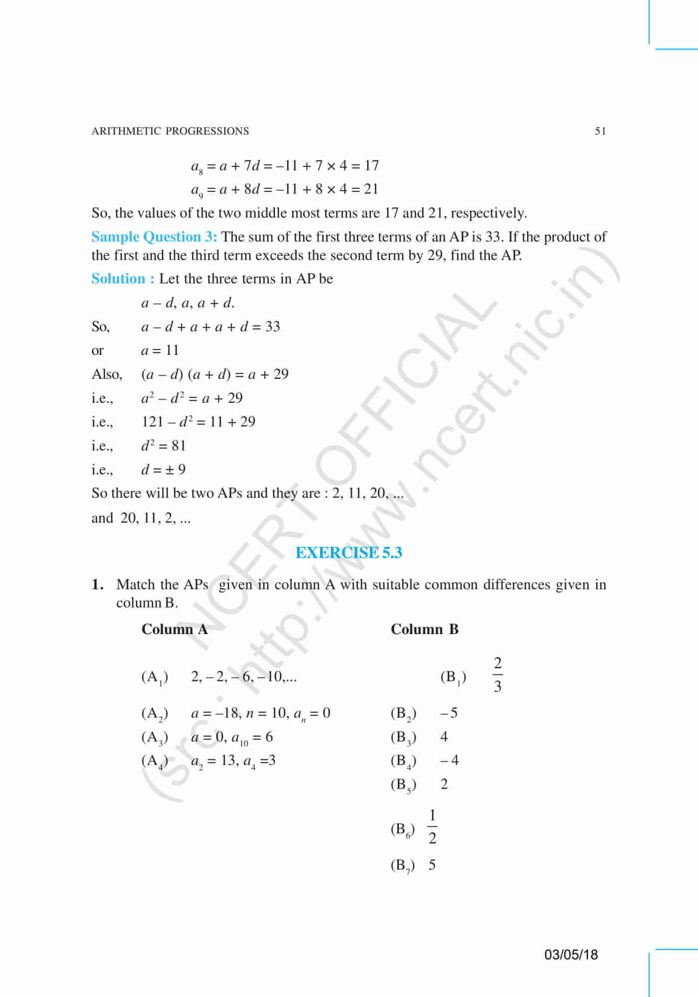 NCERT Exemplar Class 10 Maths