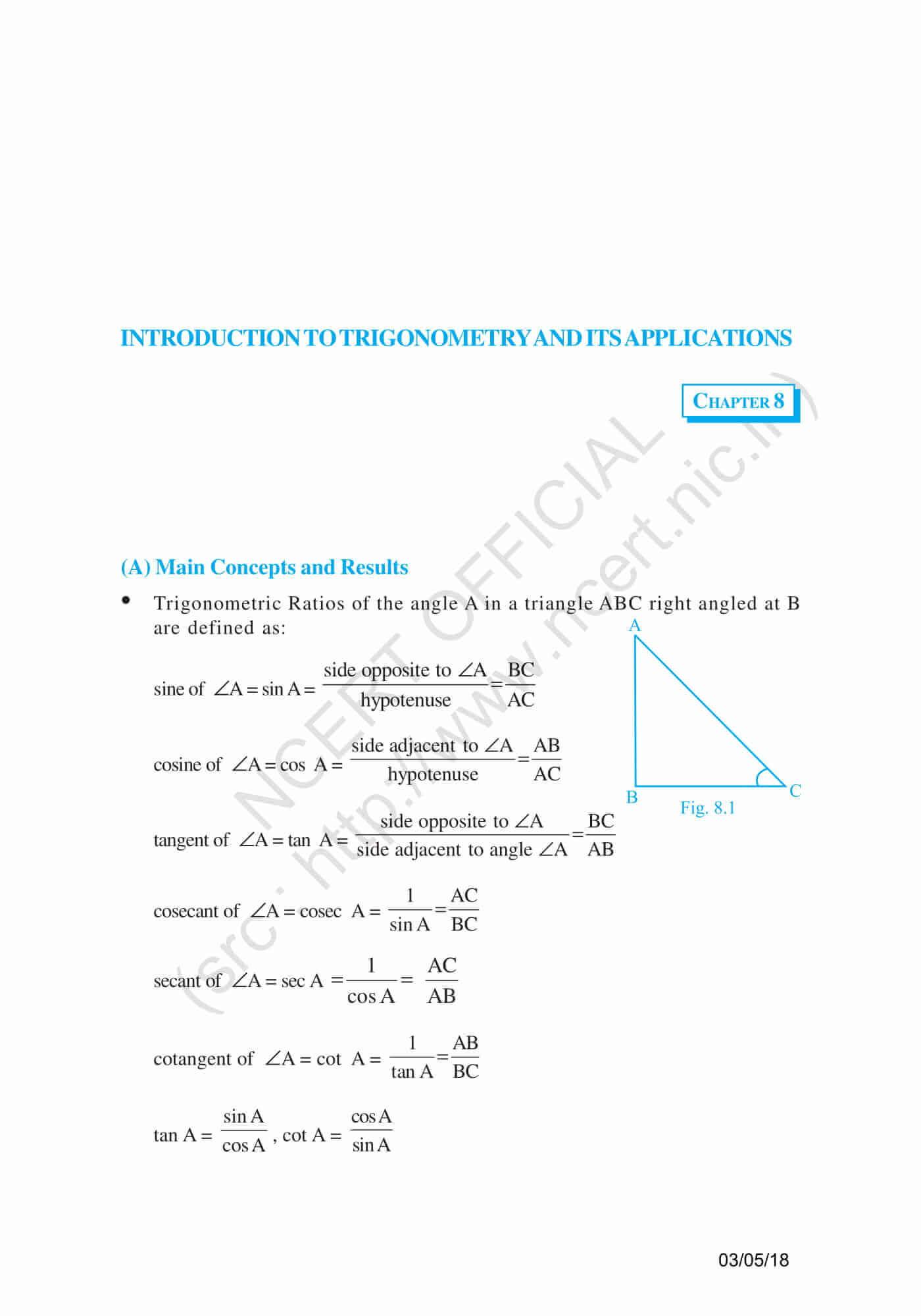 NCERT Exemplar Class 10 Maths Solutions Chapter 8 - Free PDF