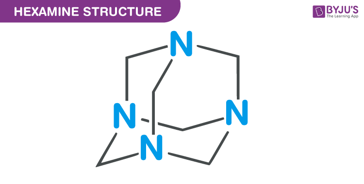 Hexamine - C6H12N4 Structure, Molecular Mass, Properties, Uses