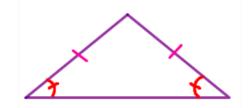 area of a isosceles triangle