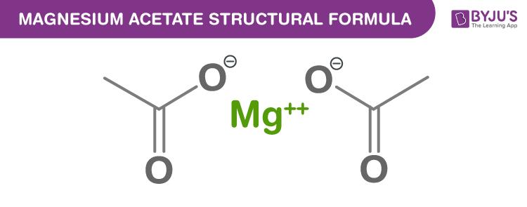 Magnesium Acetate Formula