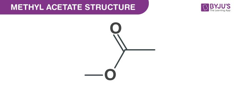Methyl acetate structure