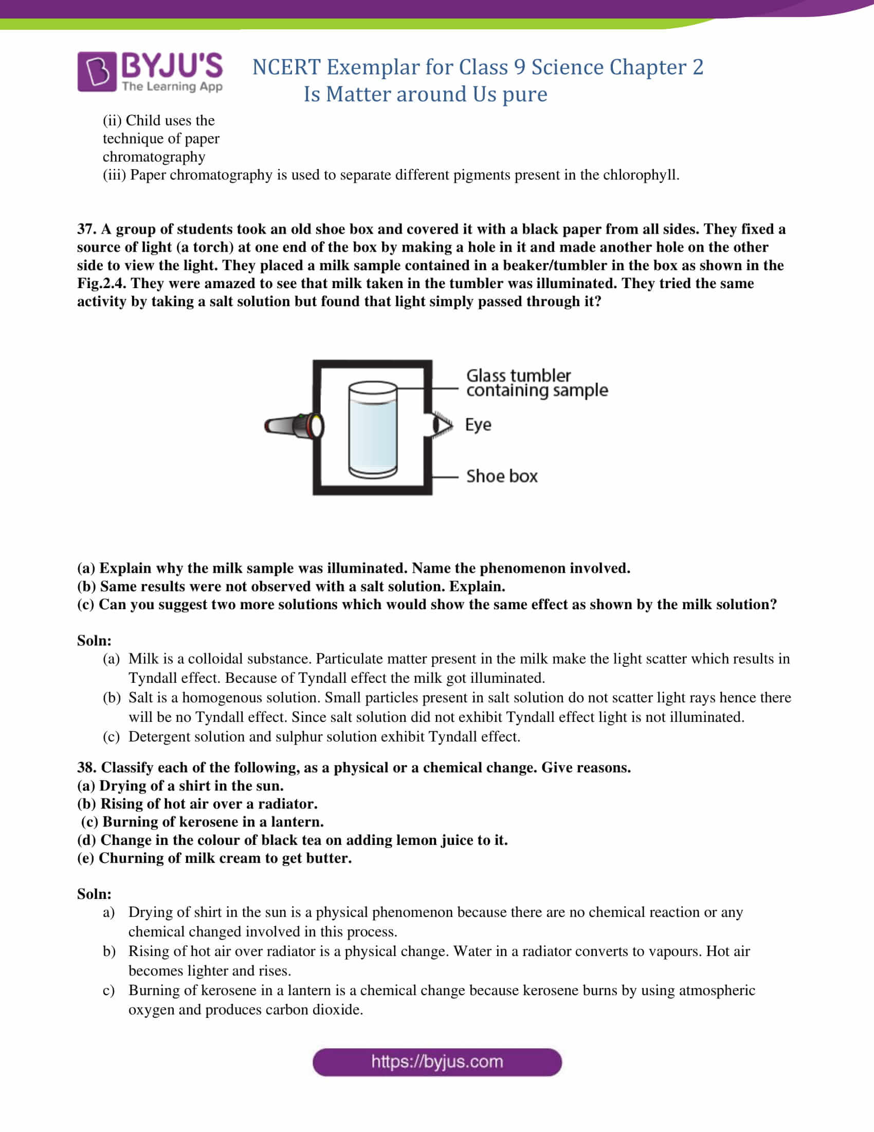NCERT Exemplar Class 9 Science Solutions Chapter 2 - Is ...