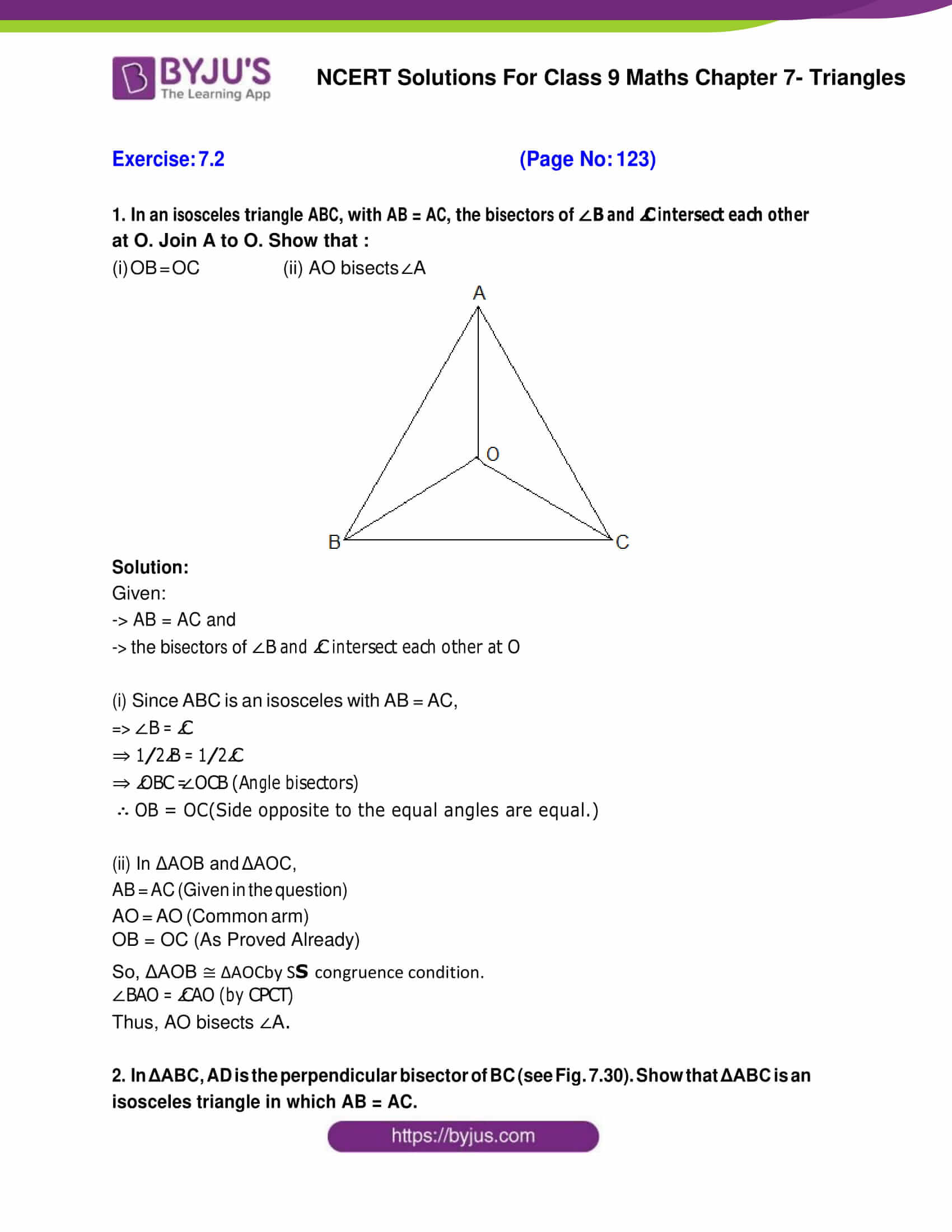 NCERT Solutions for Class 9 Maths Exercise 7 2 Chapter 7