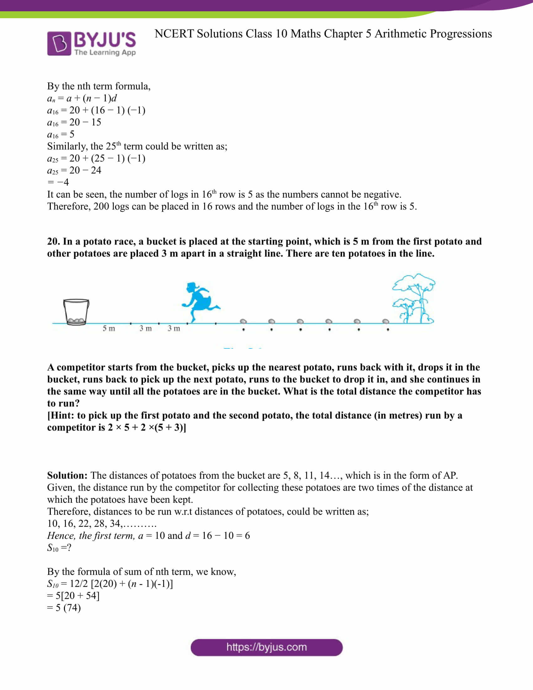 NCERT Solution for CBSE class 10 Maths Chapter 5 Arithmetic Progressions Excercise 5.3 Part 17