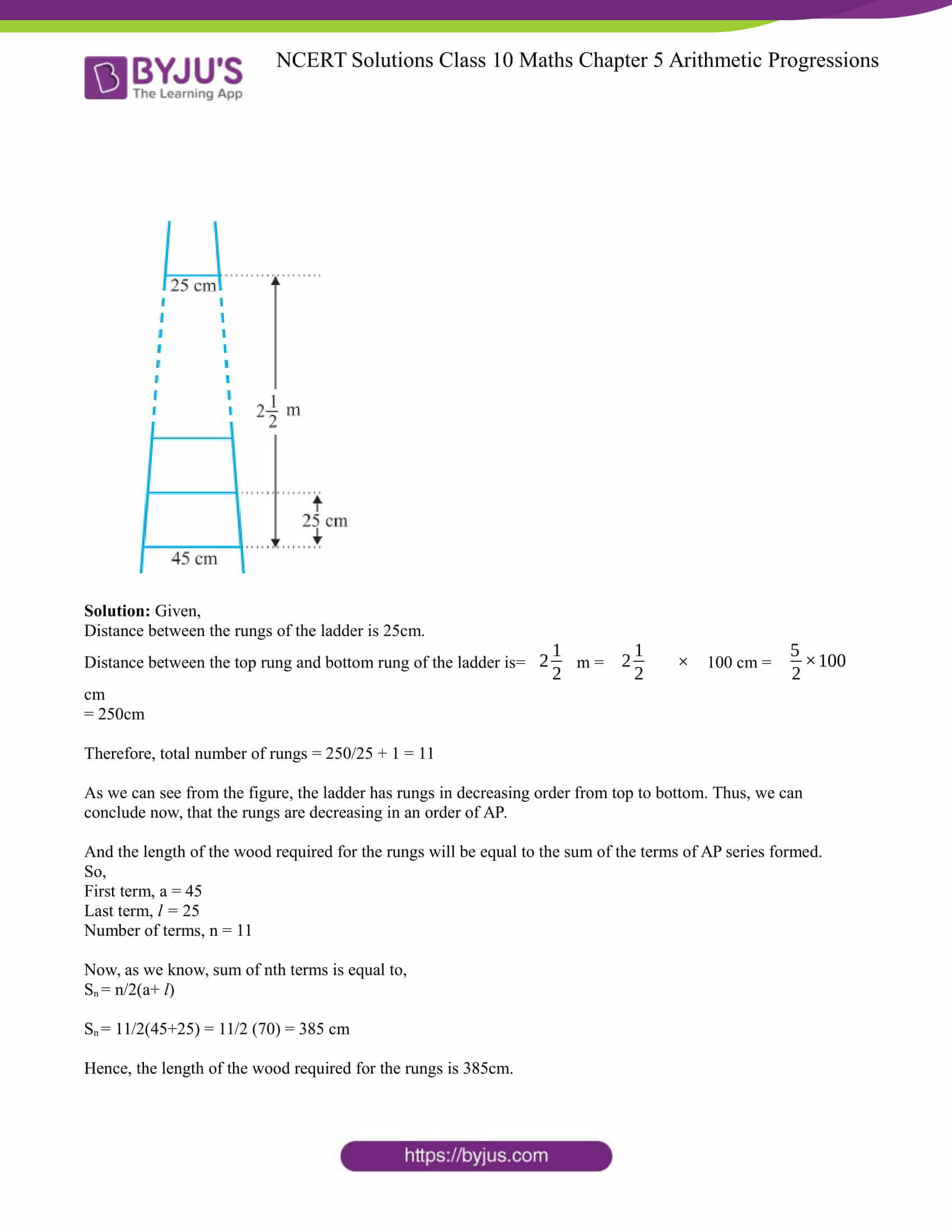 NCERT Solution for CBSE class 10 Maths Chapter 5 Arithmetic Progressions Excercise 5.3 Part 20