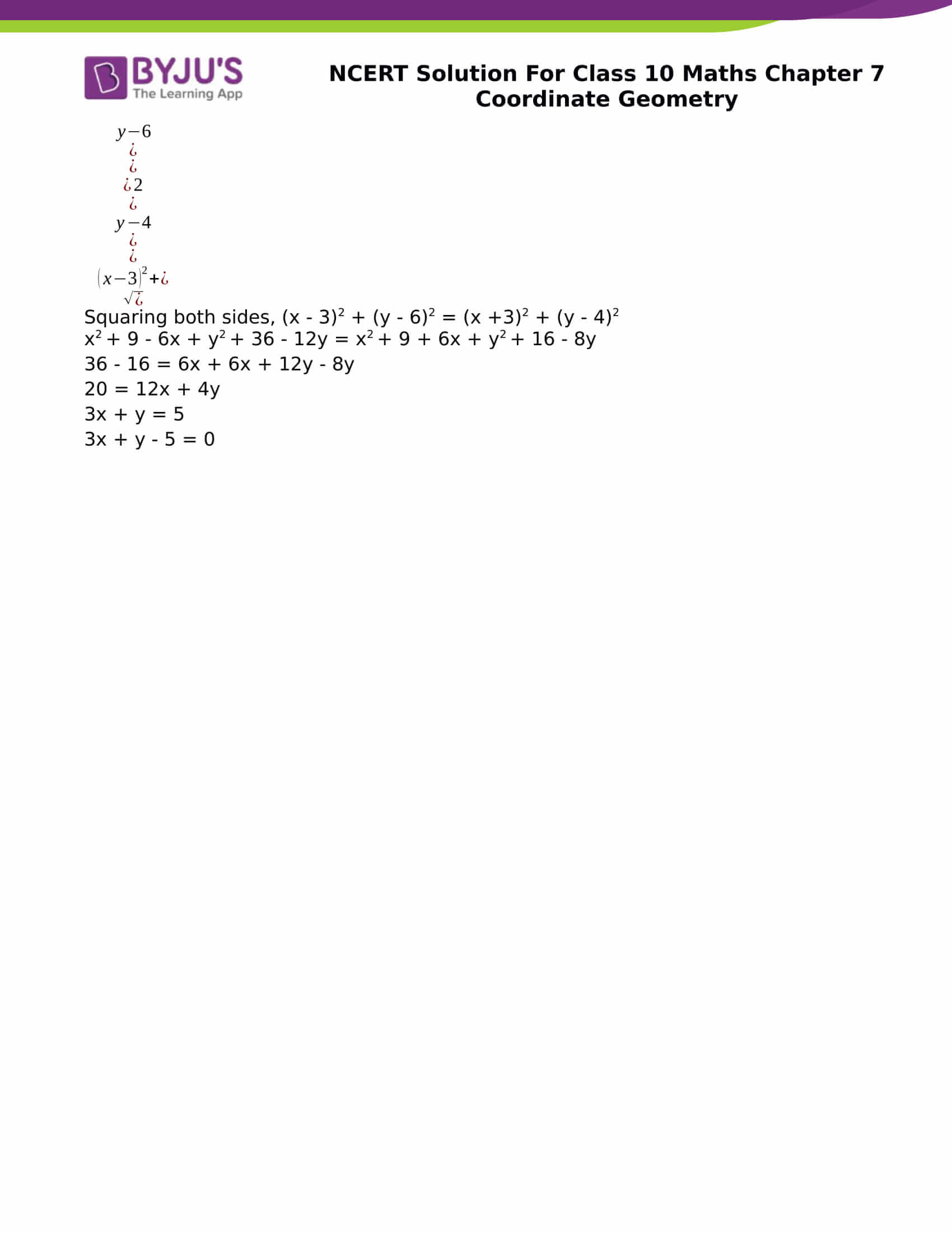 NCERT Solution for CBSE class 10 Maths chapter 7 Coordinate Geometry Excercise 7.1 Part 10