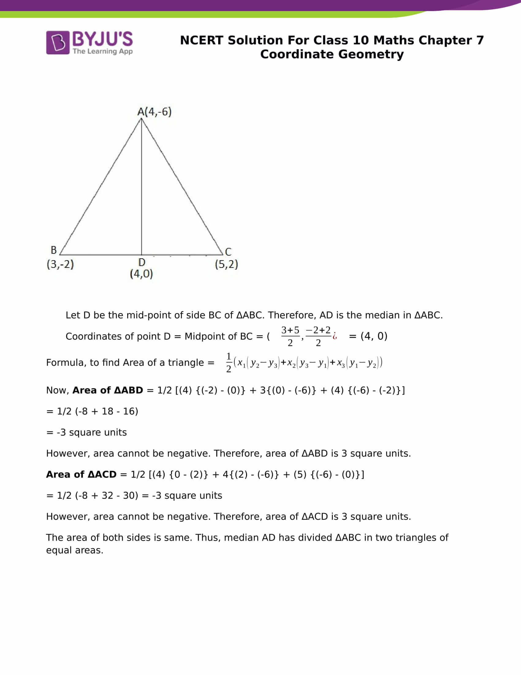 NCERT Solution for class 10 Maths chapter 7 Coordinate Geometry Part 21