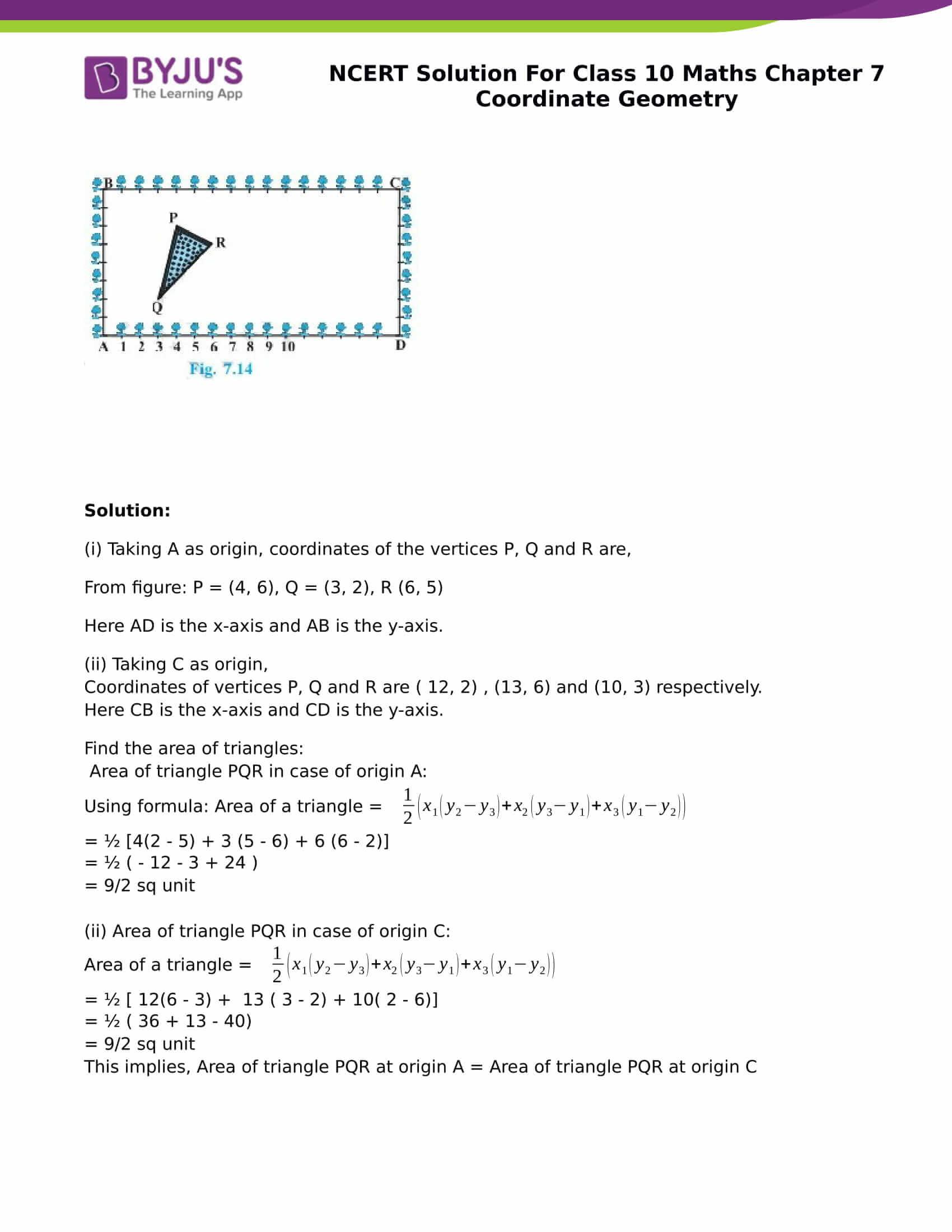 NCERT Solution for class 10 Maths chapter 7 Coordinate Geometry Part 26