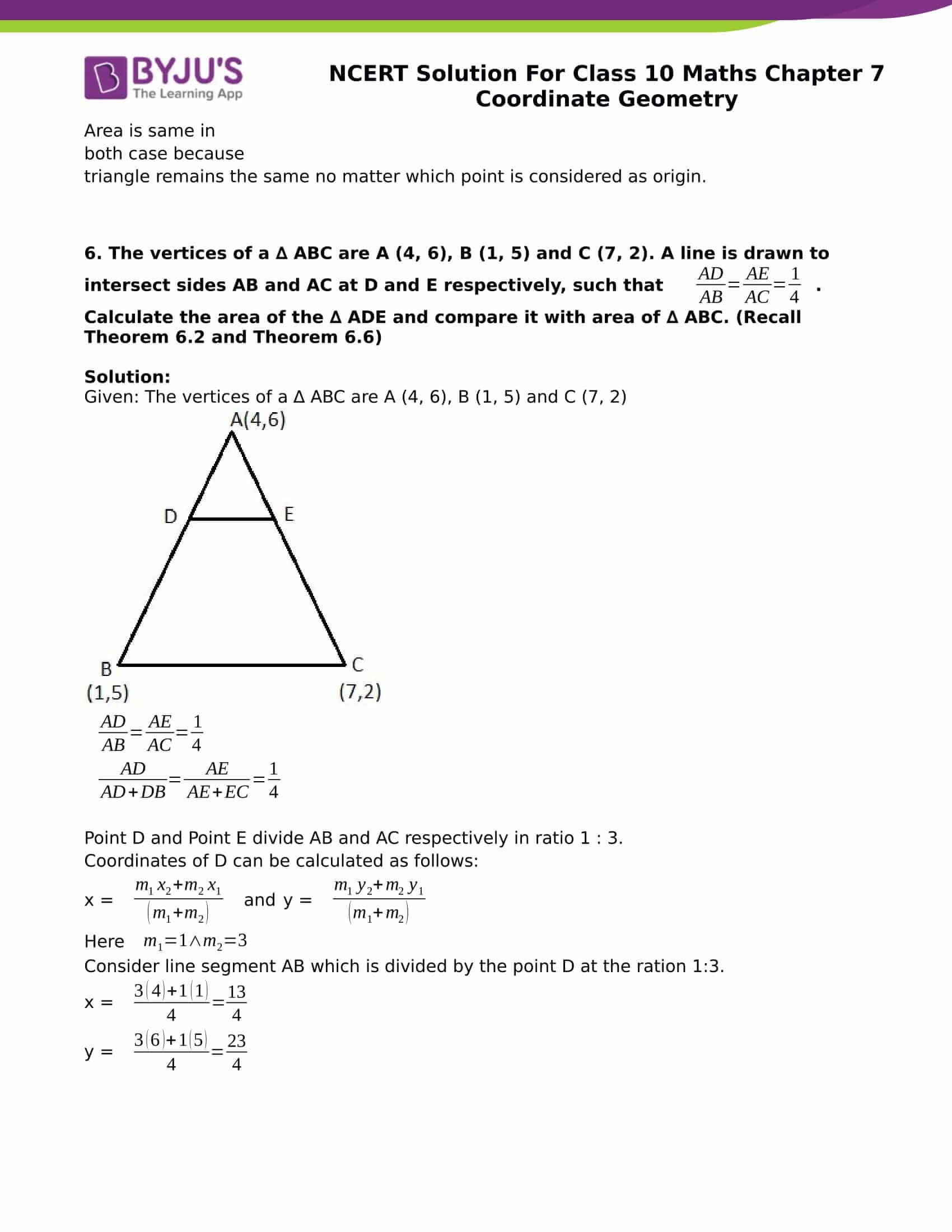 NCERT Solution for class 10 Maths chapter 7 Coordinate Geometry Part 27