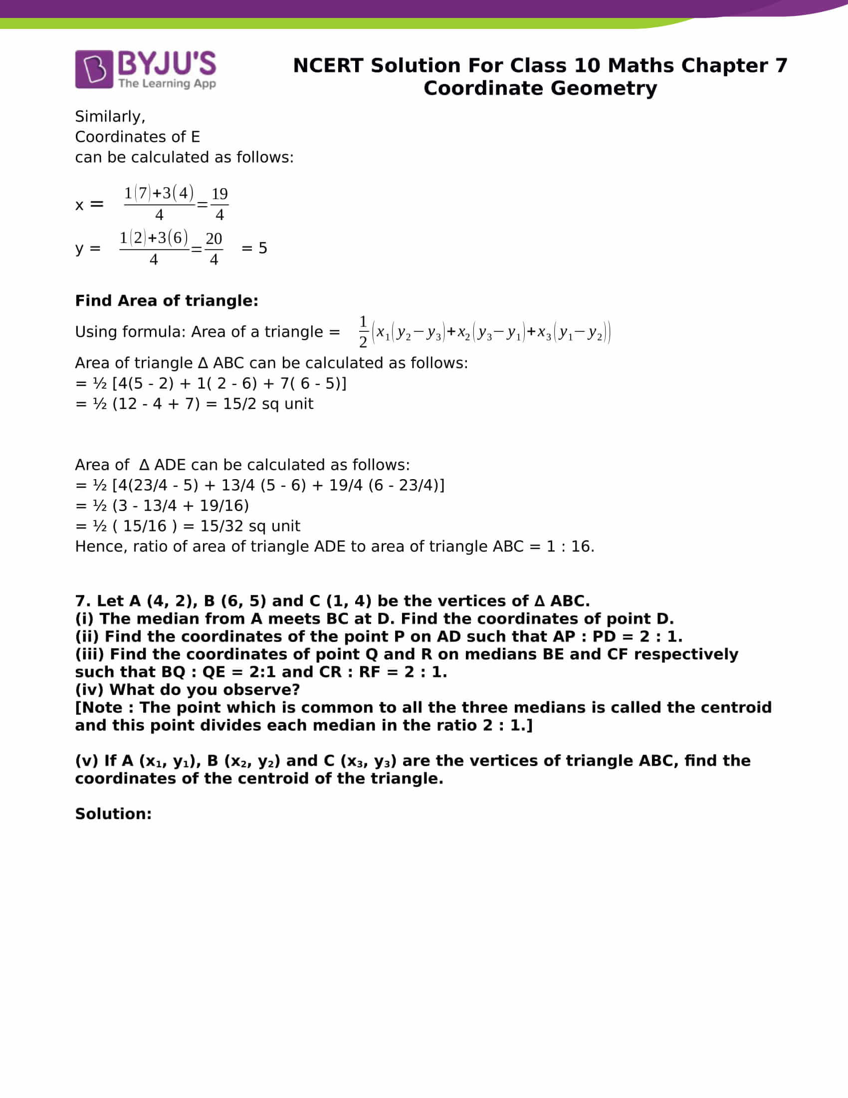 NCERT Solution for class 10 Maths chapter 7 Coordinate Geometry Part 28