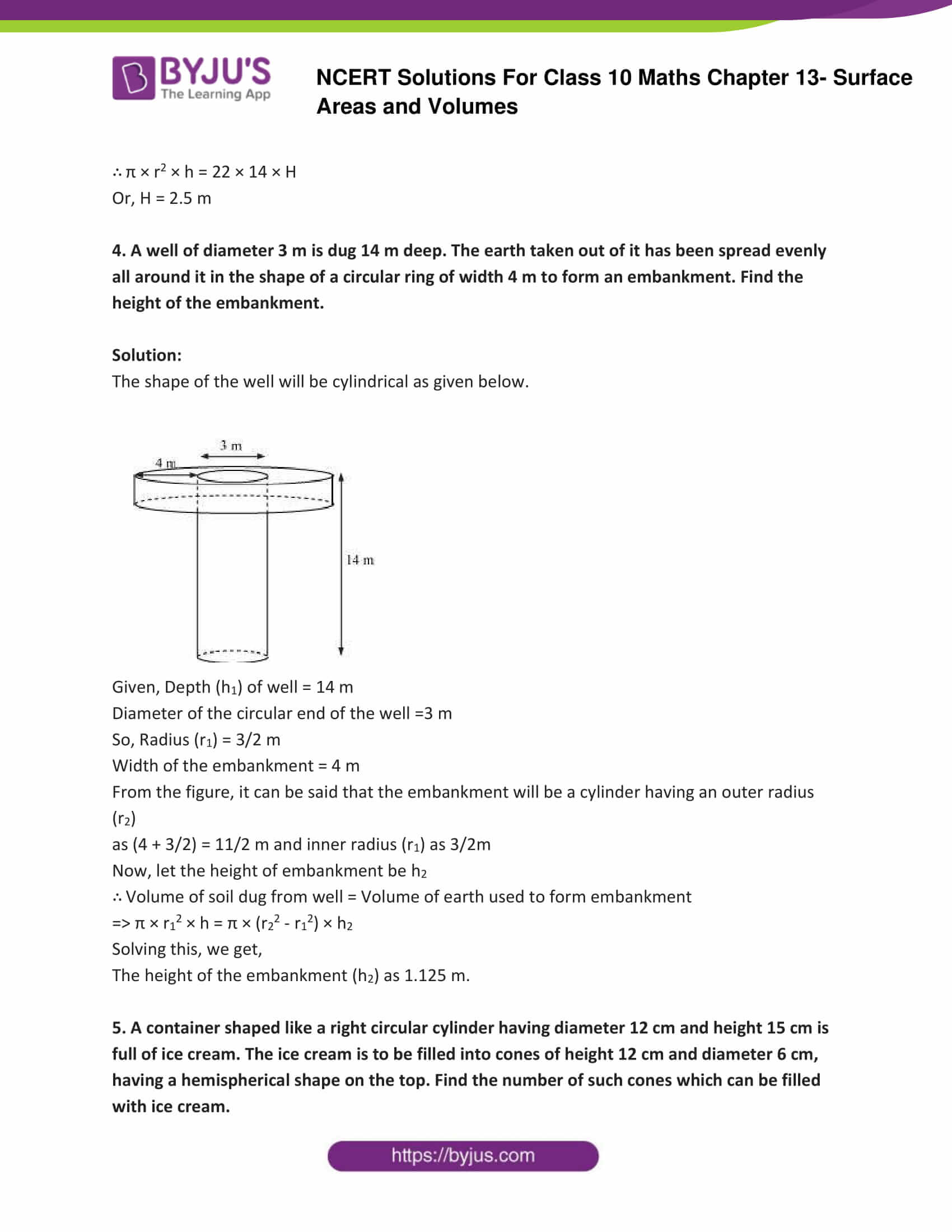 NCERT Solutions Class 10 Maths Chapter 13 Surface Areas and Volumes Part 16