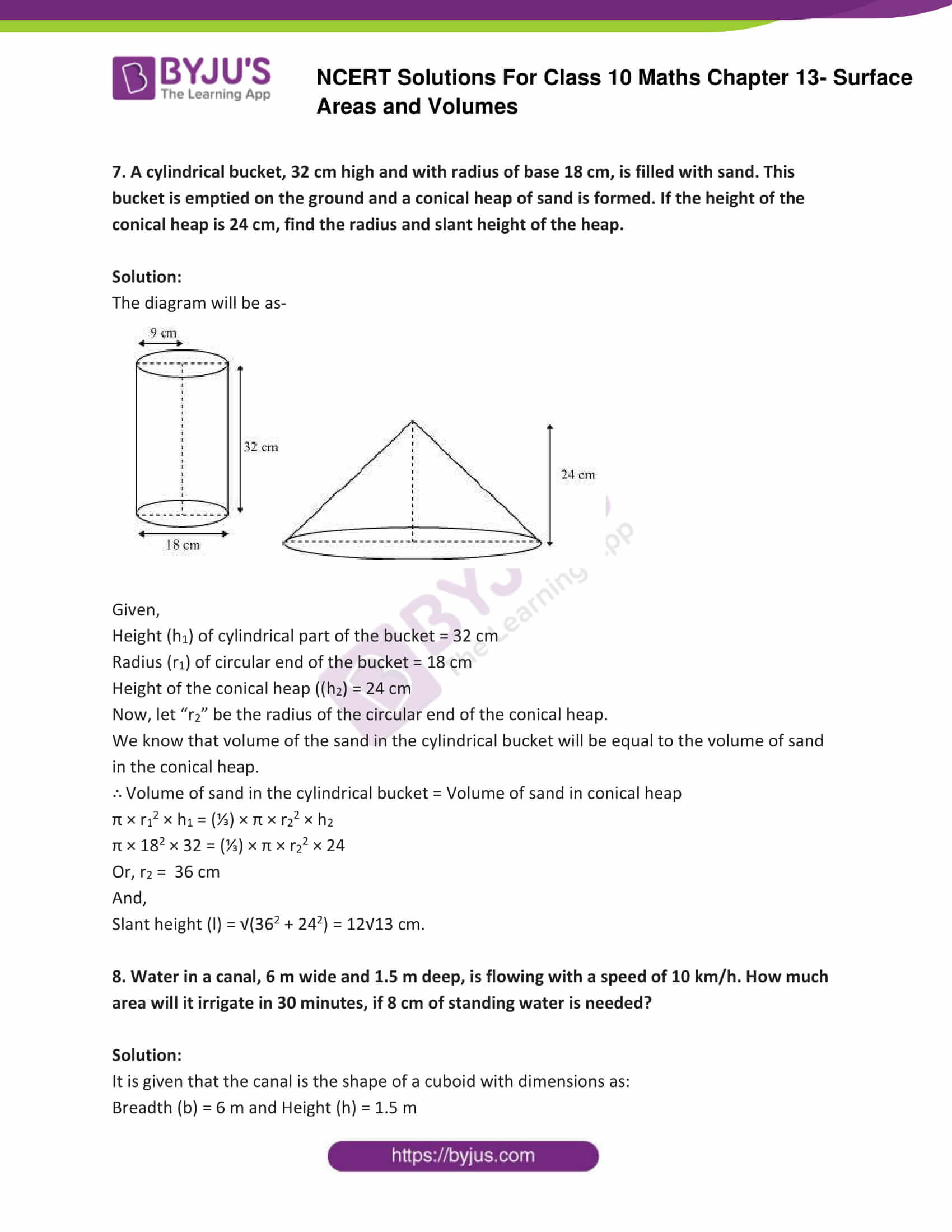 NCERT Solutions Class 10 Maths Chapter 13 Surface Areas and Volumes Part 18