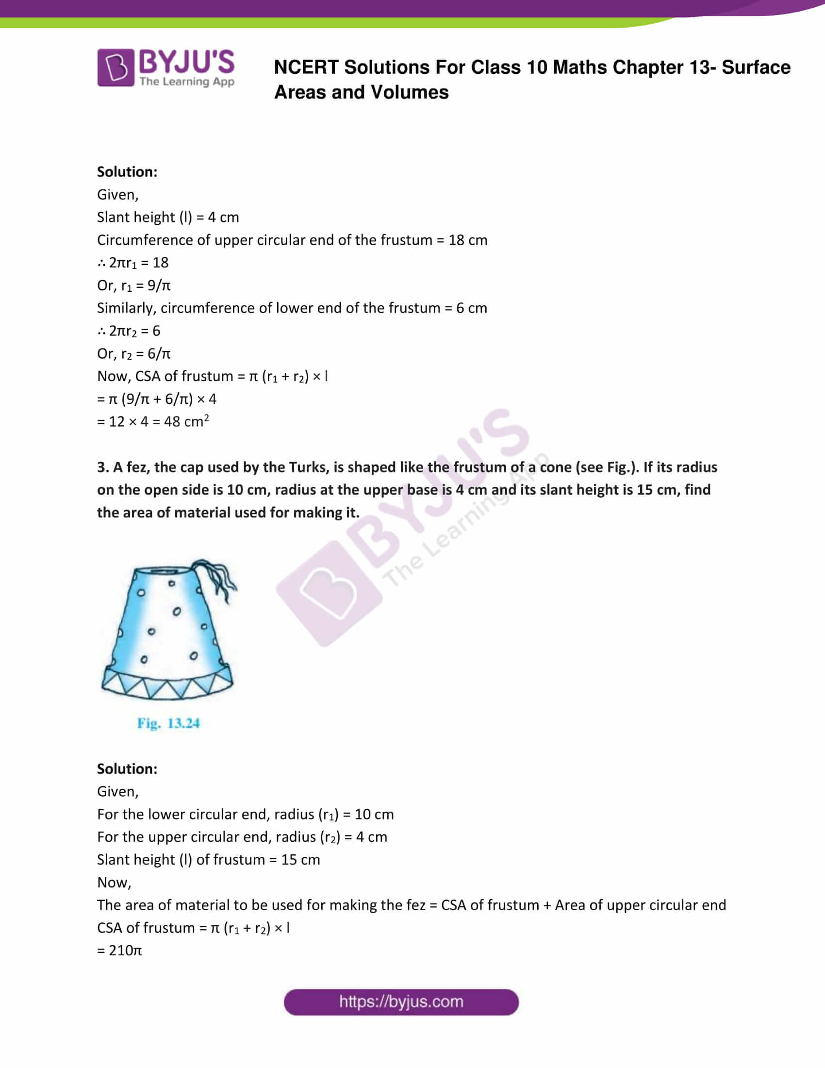 NCERT Solutions Class 10 Maths Chapter 13 Surface Areas and Volumes Part 21