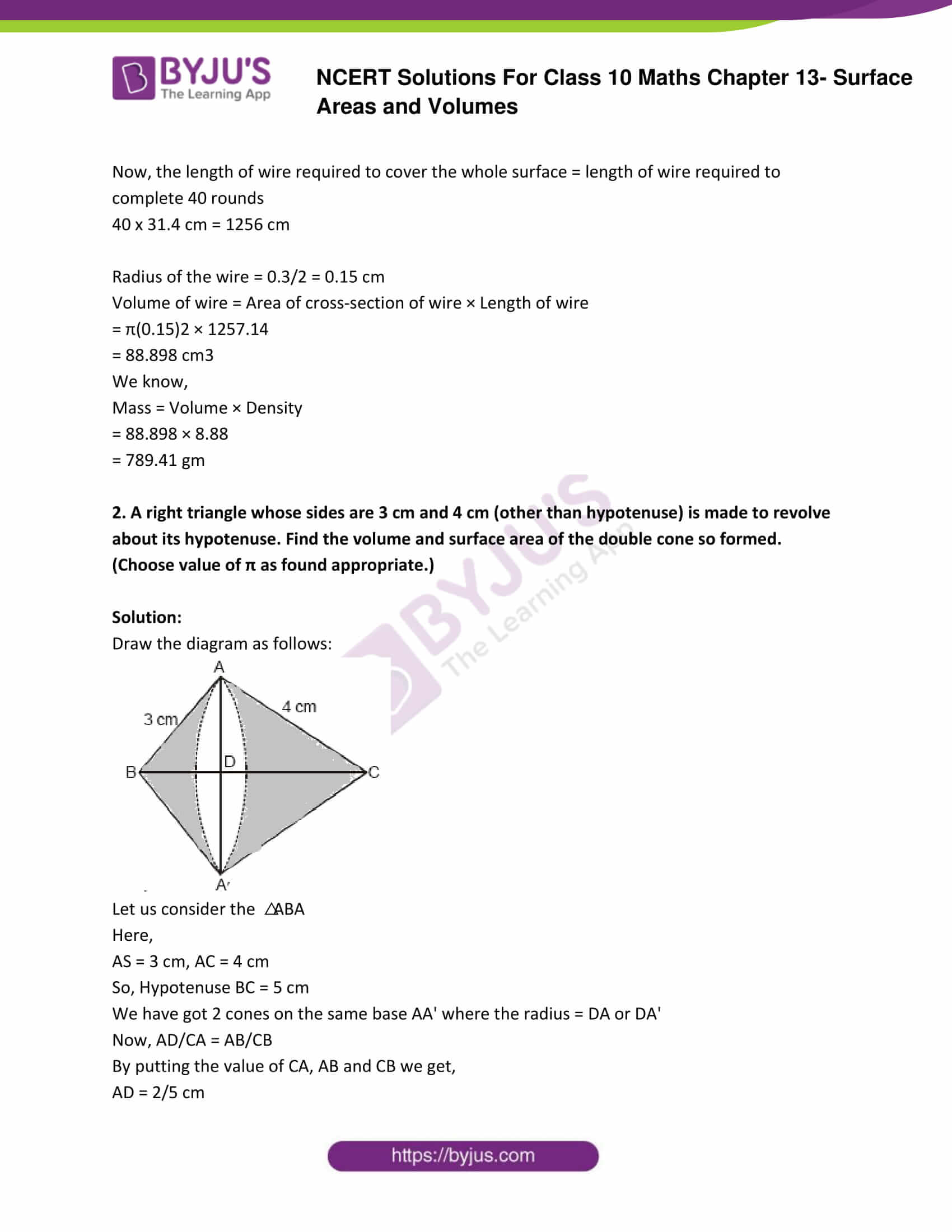 NCERT Solutions Class 10 Maths Chapter 13 Surface Areas and Volumes Part 25