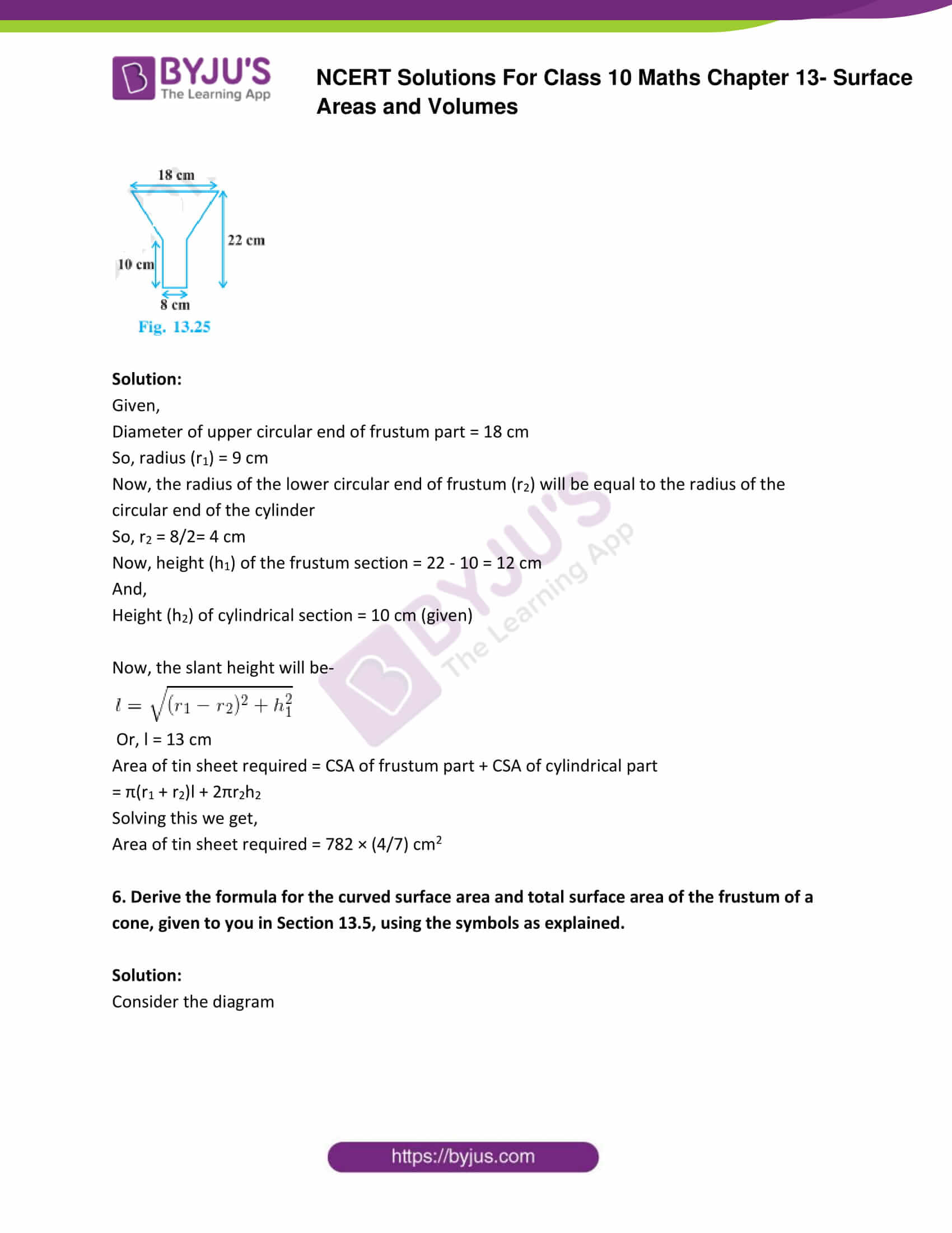 NCERT Solutions Class 10 Maths Chapter 13 Surface Areas and Volumes Part 28