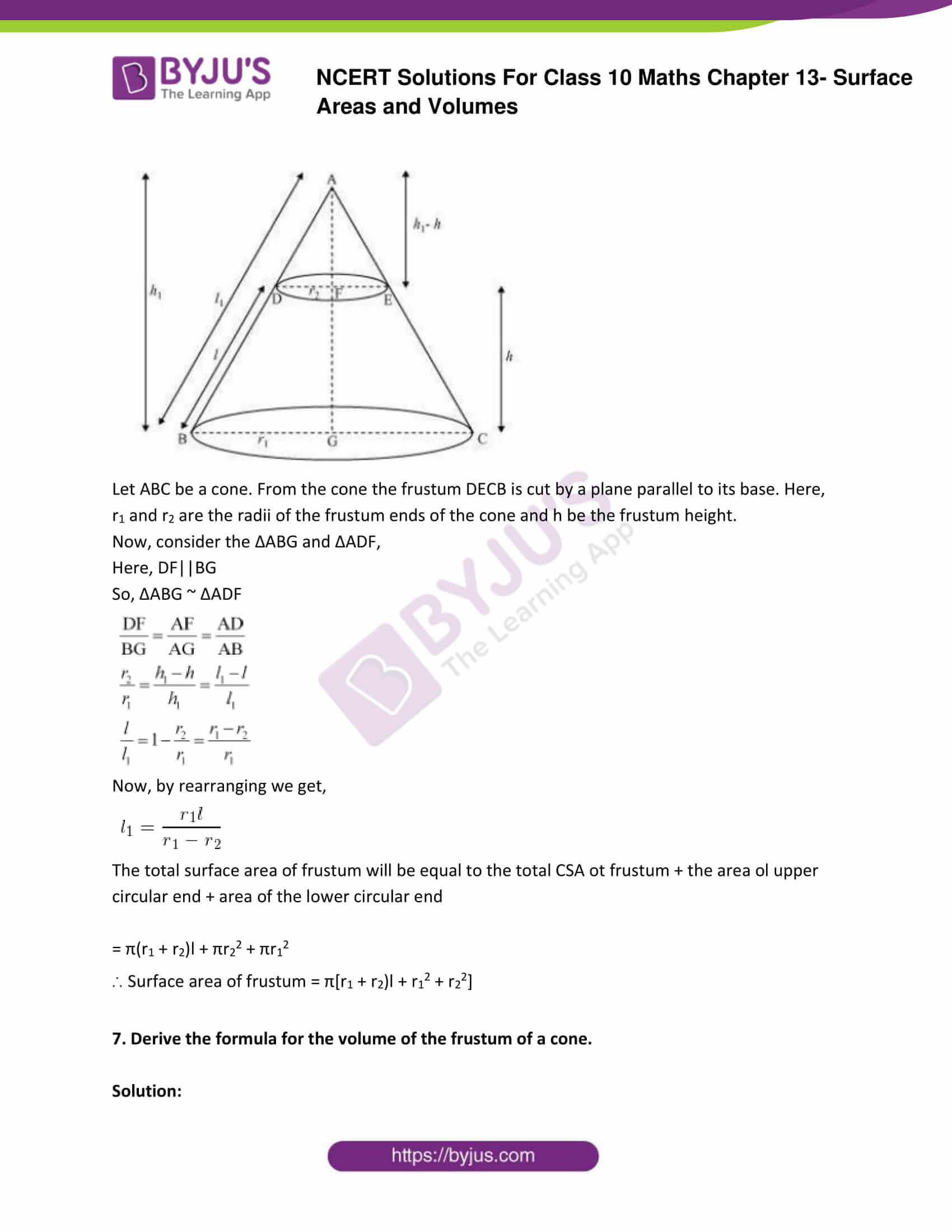 NCERT Solutions Class 10 Maths Chapter 13 Surface Areas and Volumes Part 29