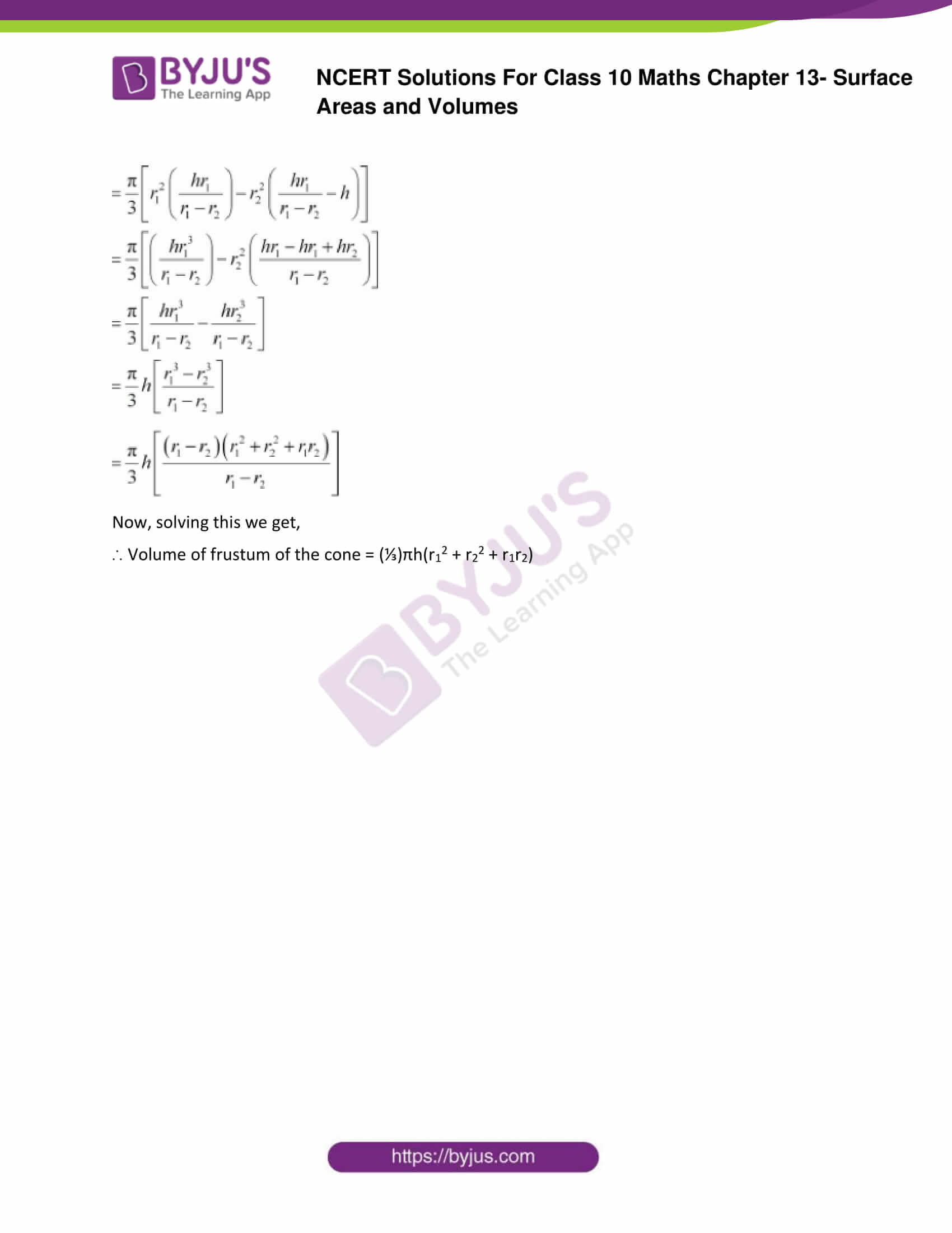 NCERT Solutions Class 10 Maths Chapter 13 Surface Areas and Volumes Part 31