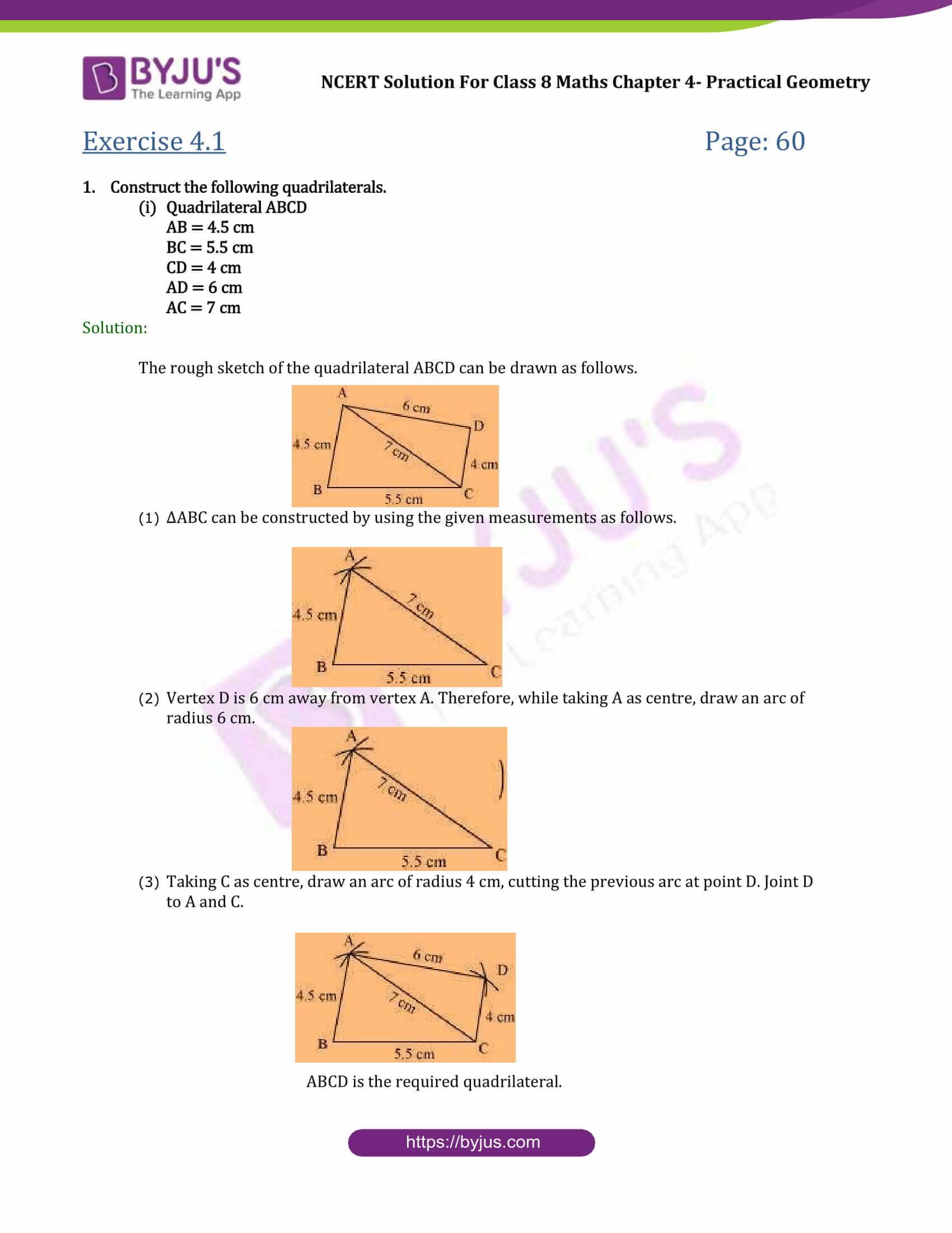 NCERT Solutions Class 8 Maths Chapter 4 Practical Geometry ...