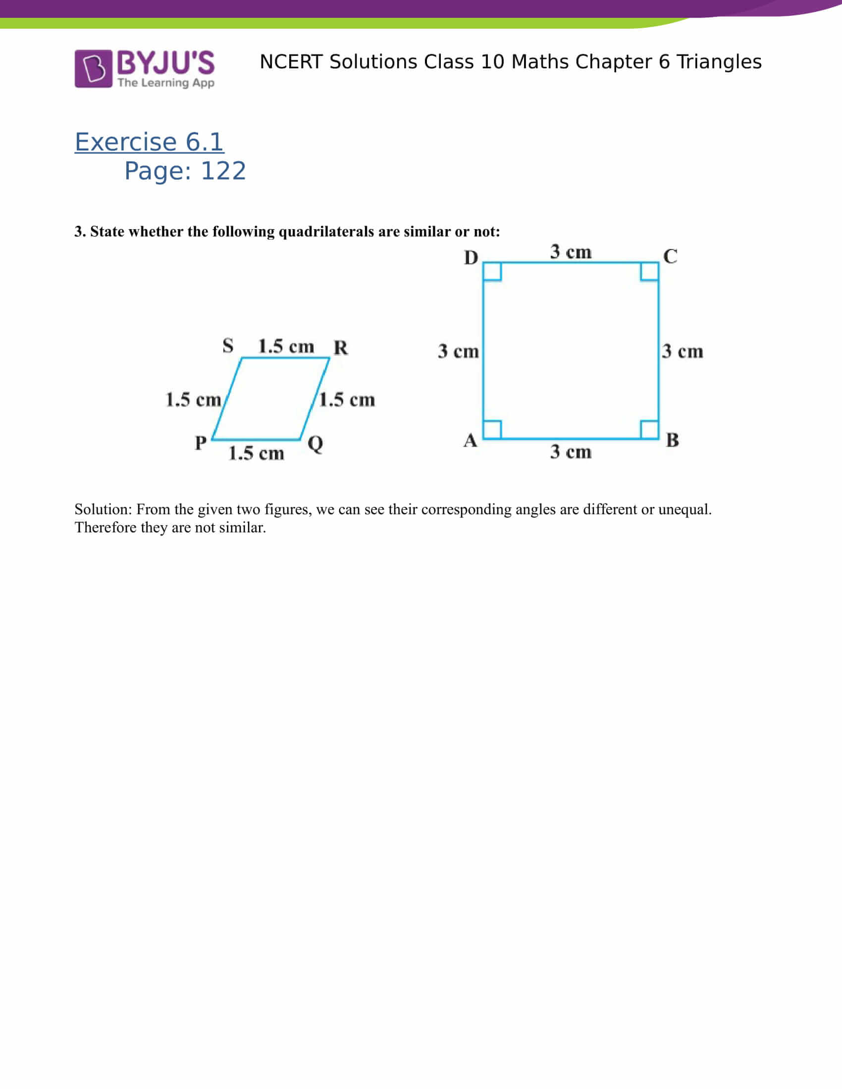 NCERT Solutions for class 10 Maths Chapter 6 Triangles Part 2